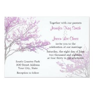 Invitación del boda del árbol de Redbud