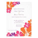 Invitación del boda del arco iris del hibisco