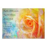 Invitación del boda del arco iris del rosa