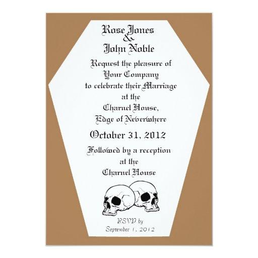 Invitación del boda del ataúd (moreno)