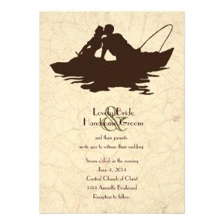 Invitación del boda del barco de Brown de los aman