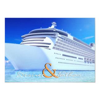 Invitación del boda del barco de cruceros