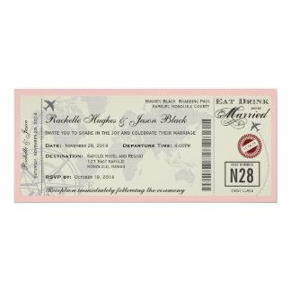 Invitación del boda del billete de avión invitación 10,1 x 23,5 cm