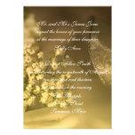 Invitación del boda del blanco puro
