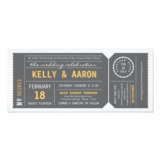 Invitación del boda del boleto de teatro de