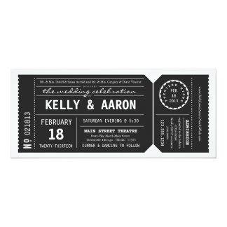 Invitación del boda del boleto de teatro de invitación 10,1 x 23,5 cm