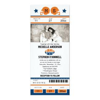 Invitación del boda del boleto del fútbol