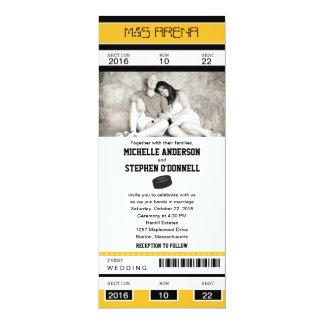 Invitación del boda del boleto del hockey