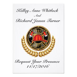 Invitación del boda del bombero