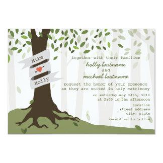 Invitación del boda del bosque/del arbolado