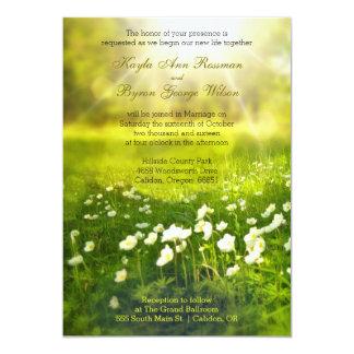 Invitación del boda del campo de flor de la