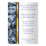 Invitación del boda del camuflaje de Digitaces de