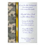 Invitación del boda del camuflaje de Digitaces del Invitación 12,7 X 17,8 Cm