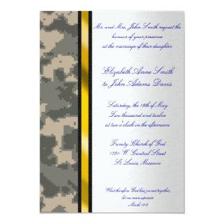 Invitación del boda del camuflaje de Digitaces del