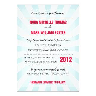 Invitación del boda del carnaval