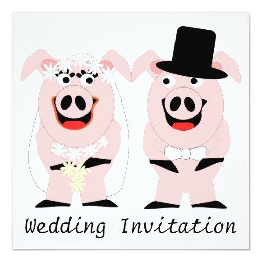 Invitación del boda del cerdo