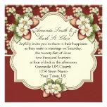 Invitación del boda del chapoteo de la fresa