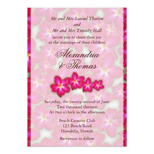 Invitación del boda del collage del rosa de invitación 12,7 x 17,8 cm