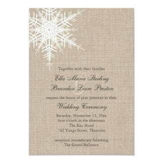 Invitación del boda del copo de nieve de la