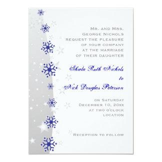 Invitación del boda del copo de nieve del gris