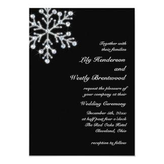 Invitación del boda del copo de nieve del invierno invitación 12,7 x 17,8 cm