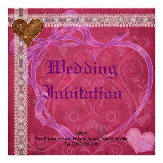 Invitación del boda del corazón