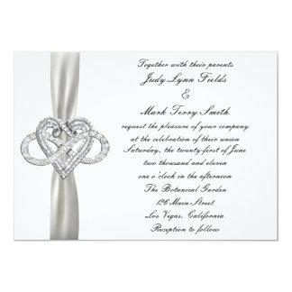 Invitación del boda del corazón del infinito invitación 12,7 x 17,8 cm