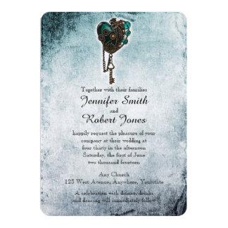 Invitación del boda del corazón del trullo de