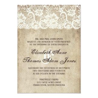 Invitación del boda del cordón de la elegancia del