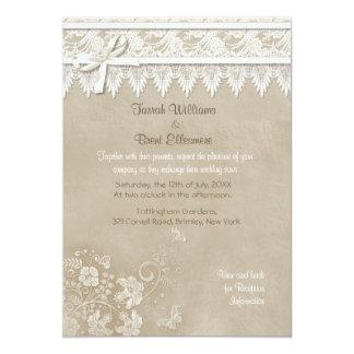 Invitación del boda del cordón de la mariposa del