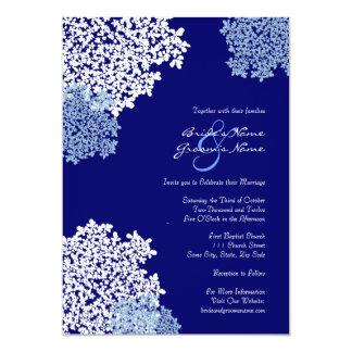 Invitación del boda del cordón de la reina Anne Invitación 12,7 X 17,8 Cm