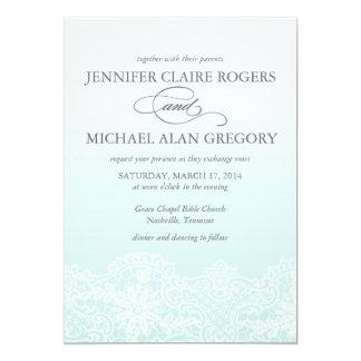 Invitación del boda del cordón de Ombre en
