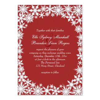 Invitación del boda del cordón del invierno