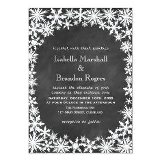 Invitación del boda del cordón del invierno de la