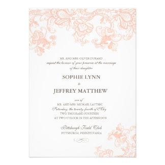 Invitación del boda del cordón del vintage