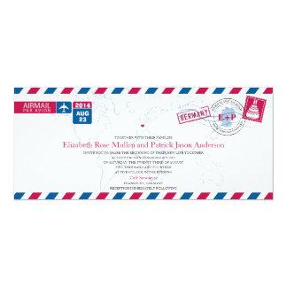Invitación del boda del correo aéreo de Alemania Invitación 10,1 X 23,5 Cm