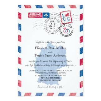 Invitación del boda del correo aéreo de Alemania