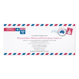 Invitación del boda del correo aéreo de Australia Invitación 10,1 X 23,5 Cm