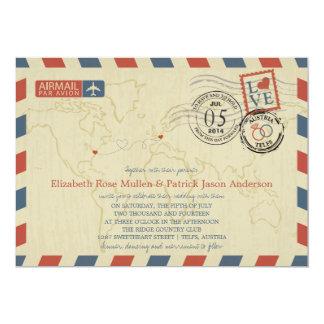 Invitación del boda del correo aéreo de Austria