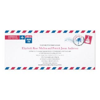 Invitación del boda del correo aéreo de Jamaica Invitación 10,1 X 23,5 Cm