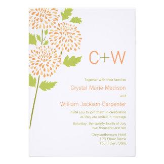 Invitación del boda del crisantemo