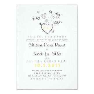 Invitación del boda del cuaderno