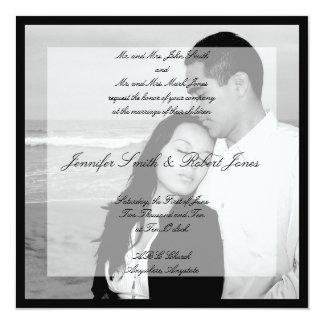 Invitación del boda del cuadrado de la foto de la