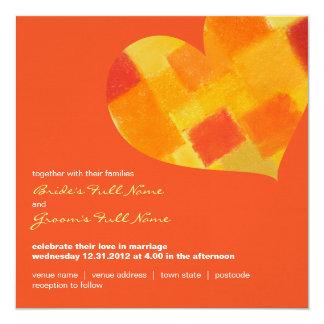 Invitación del boda del cuadrado del tango del