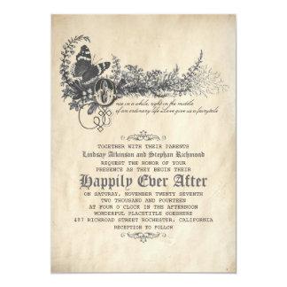 Invitación del boda del cuento de hadas invitación 12,7 x 17,8 cm