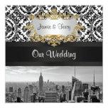 Invitación del boda del damasco de BW 431 del