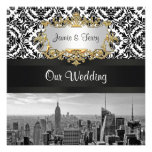 Invitación del boda del damasco de BW 431 del hori