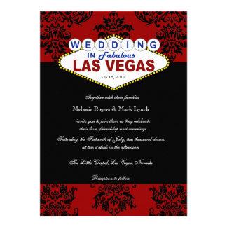 Invitación del boda del damasco de Viva Las Vegas