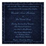 Invitación del boda del damasco del vintage de los