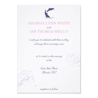 Invitación del boda del delfín